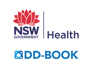 NSW Health and DD-Book logos