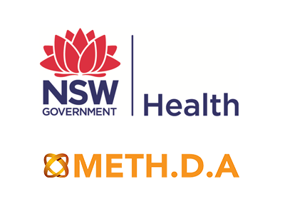 NSW Health & Meth.D.A logos