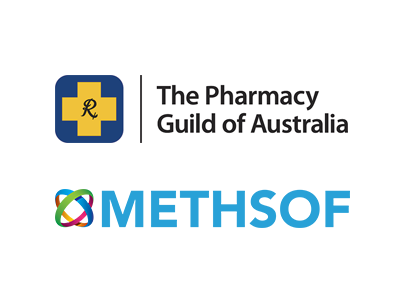 Pharmacy Guild of Australia and Methsof logos